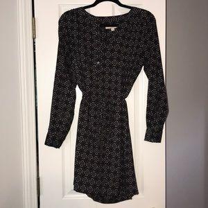 Loft long sleeve patterned dress
